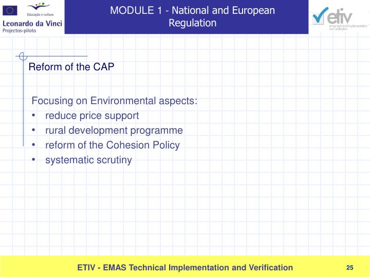 Focusing on Environmental aspects: