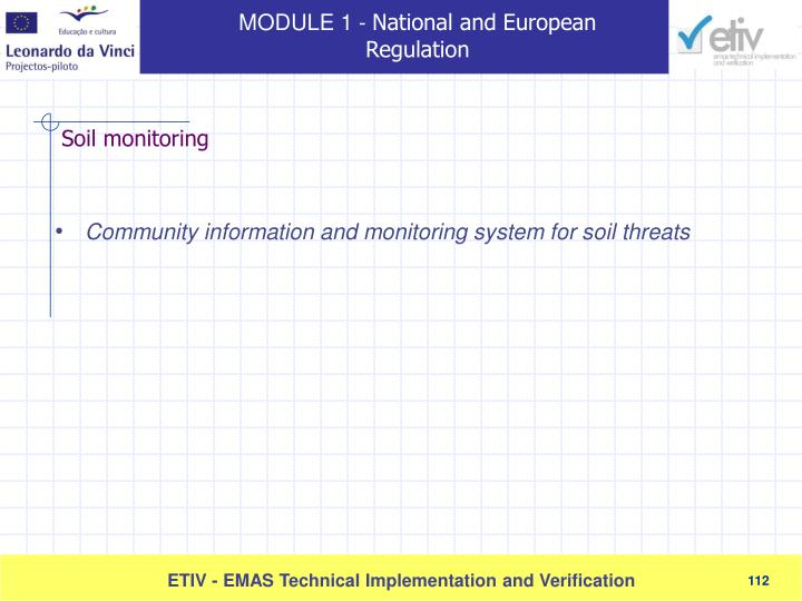 Community information and monitoring system for soil threats