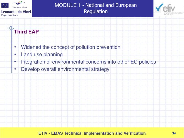 Widened the concept of pollution prevention