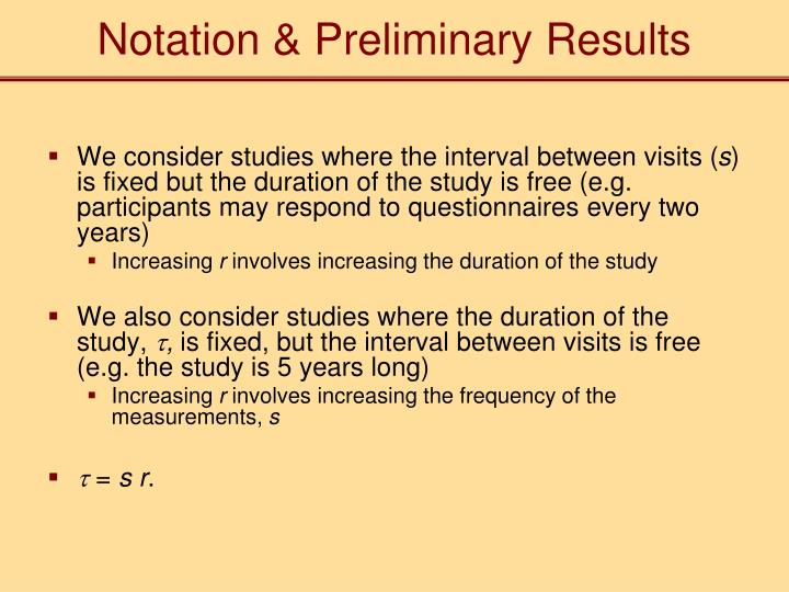 Notation & Preliminary Results