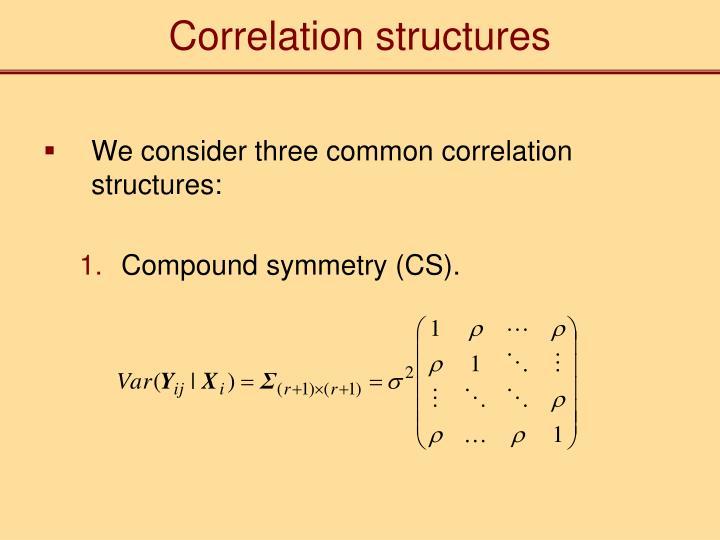 Correlation structures