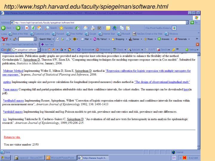 http://www.hsph.harvard.edu/faculty/spiegelman/software.html