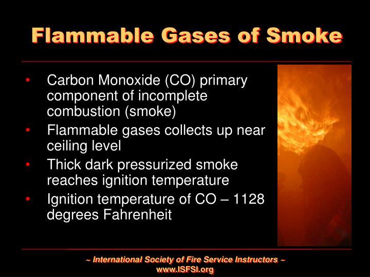 Flammable Gases of Smoke