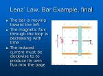 lenz law bar example final