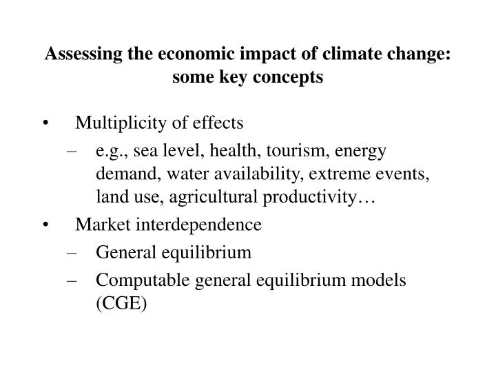 Assessing the economic impact of climate change:
