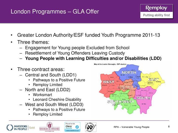 London Programmes – GLA Offer