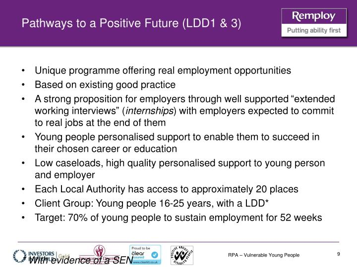 Pathways to a Positive Future (LDD1 & 3)