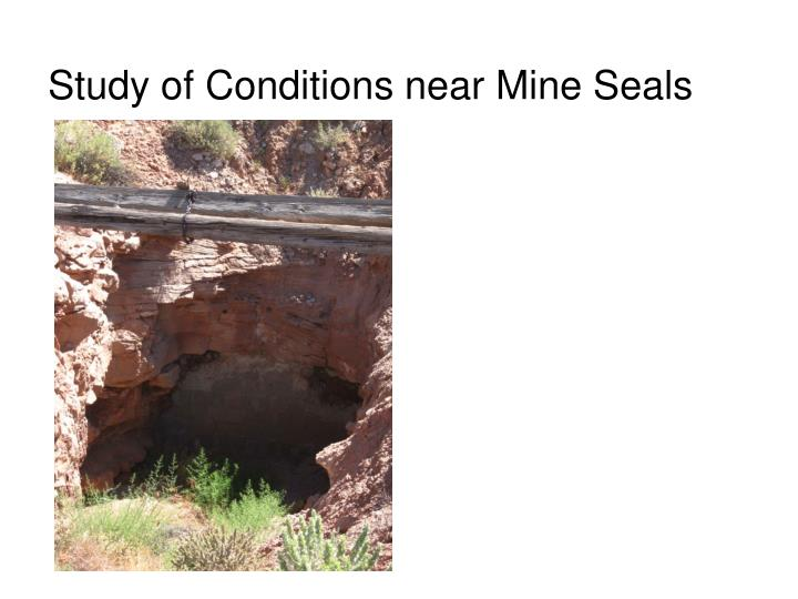 Study of Conditions near Mine Seals