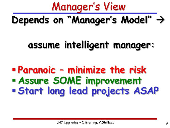Manager's View