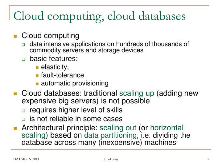 Cloud computing cloud databases