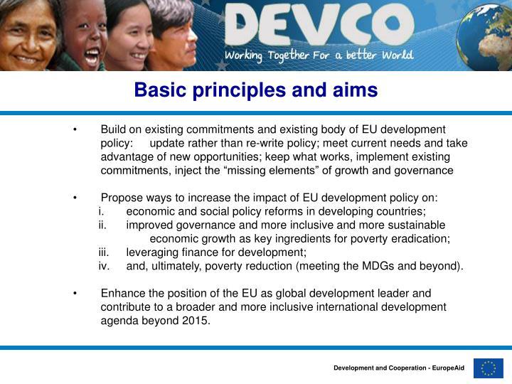 Basic principles and aims