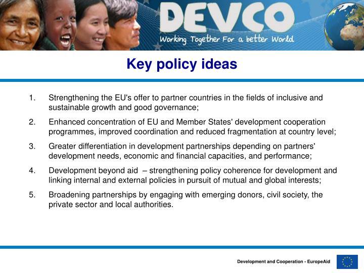 Key policy ideas