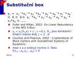 substitu n box1