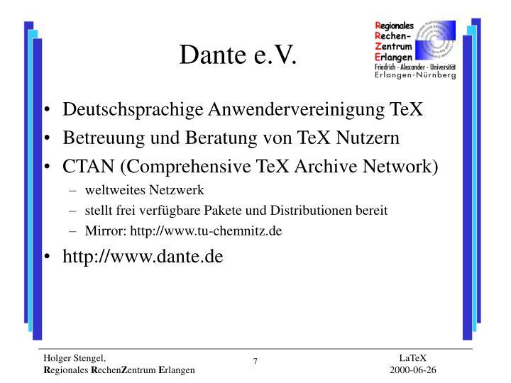 Dante e.V.