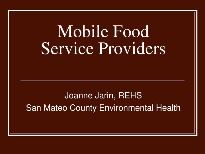 mobile food service providers n.