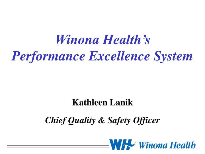 Winona Health's