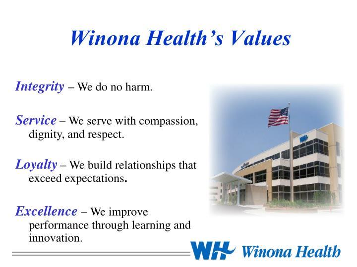 Winona health s values