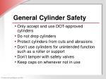 general cylinder safety