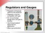 regulators and gauges