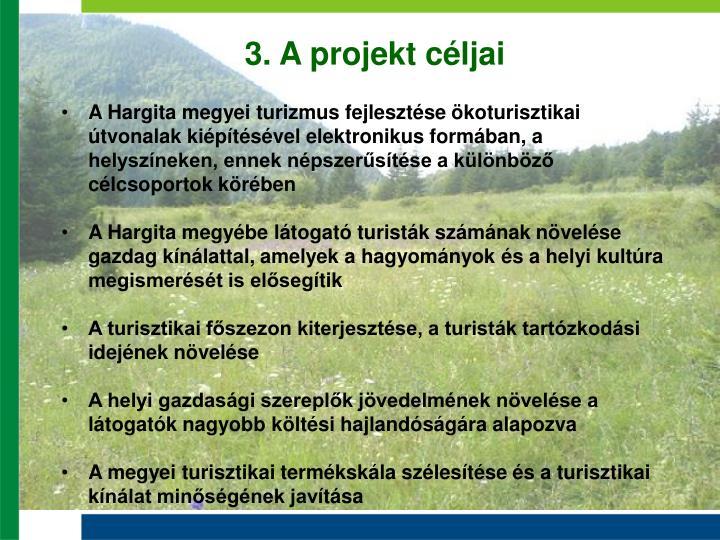 3. A projekt céljai