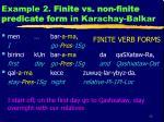 example 2 finite vs non finite predicate form in karachay balkar