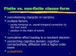 finite vs non finite clause form