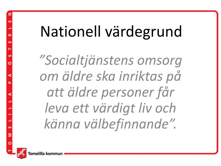 Nationell värdegrund