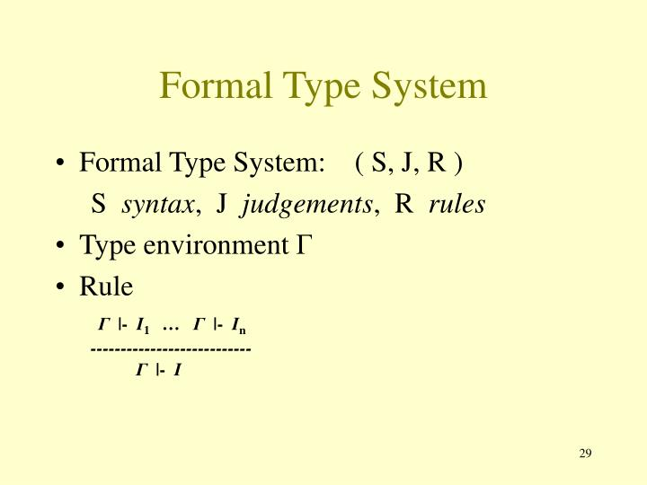 Formal Type System