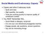 social media and e advocacy capwiz