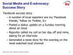 social media and e advocacy success story