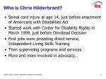 who is chris hilderbrant