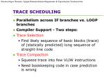 trace scheduling