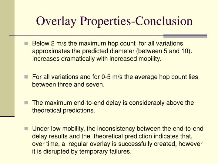 Overlay Properties-Conclusion