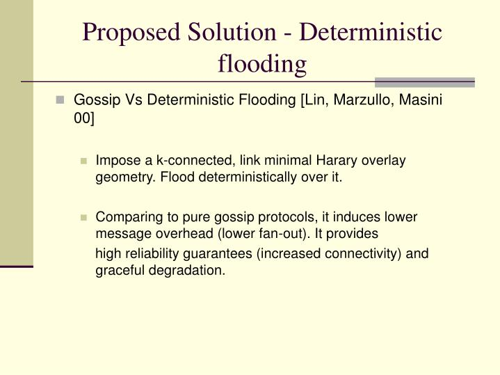 Proposed Solution - Deterministic flooding