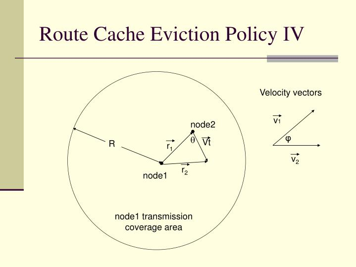 Route Cache Eviction Policy