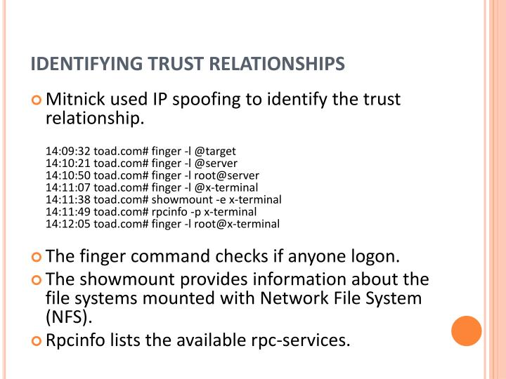 Identifying trust relationships