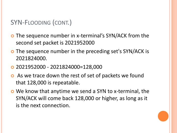 SYN-Flooding (cont.)