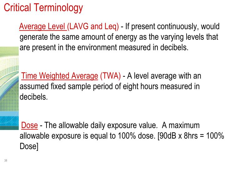 Critical Terminology