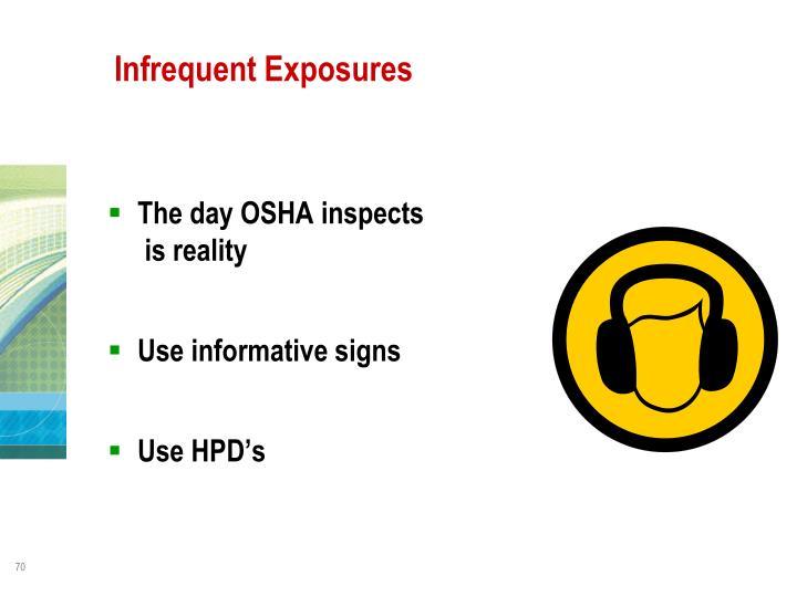 Infrequent Exposures