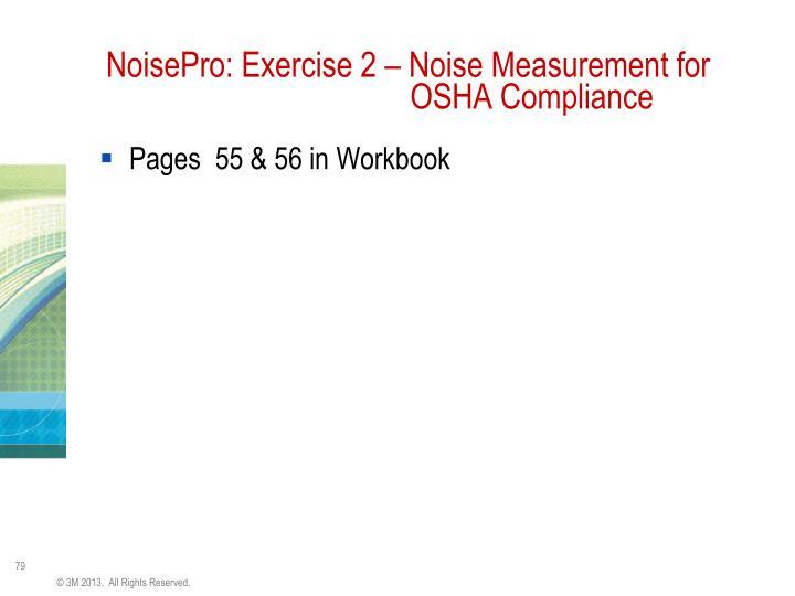NoisePro: Exercise 2 – Noise Measurement for