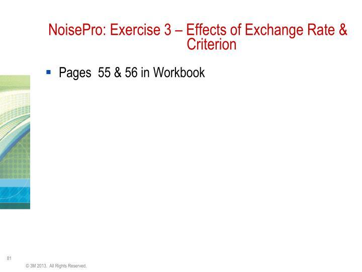 NoisePro: Exercise 3 – Effects of Exchange Rate &