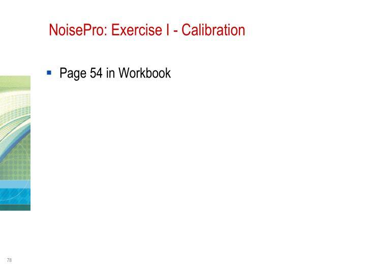NoisePro: Exercise I - Calibration
