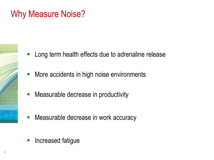 Why Measure Noise?