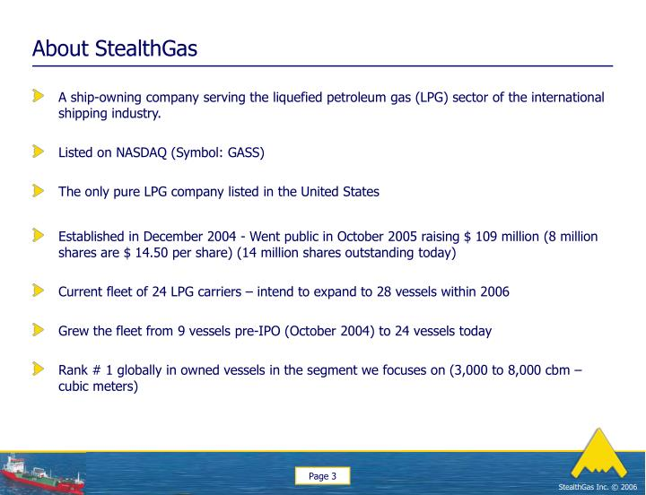 About stealthgas