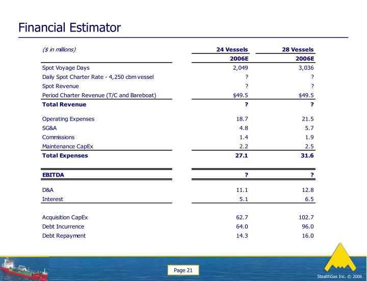 Financial Estimator