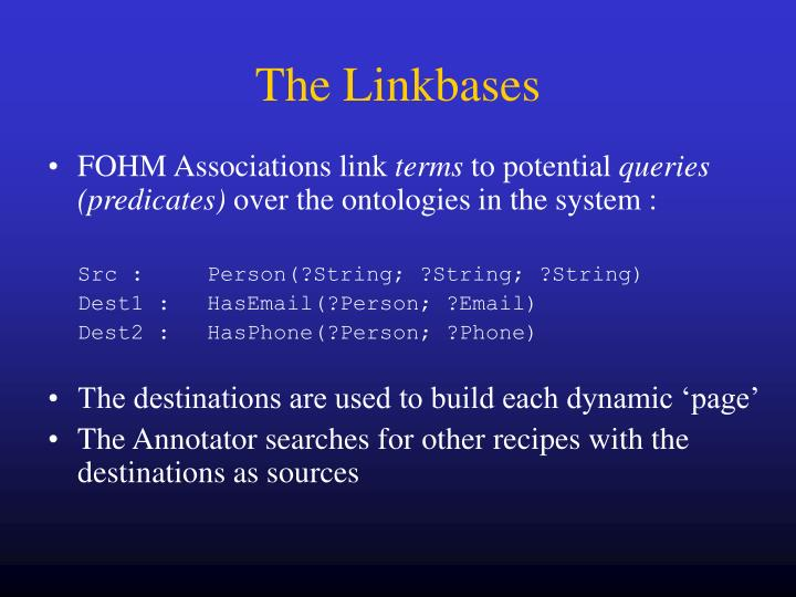 The Linkbases