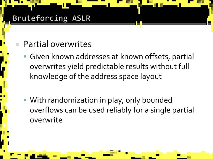 Bruteforcing ASLR