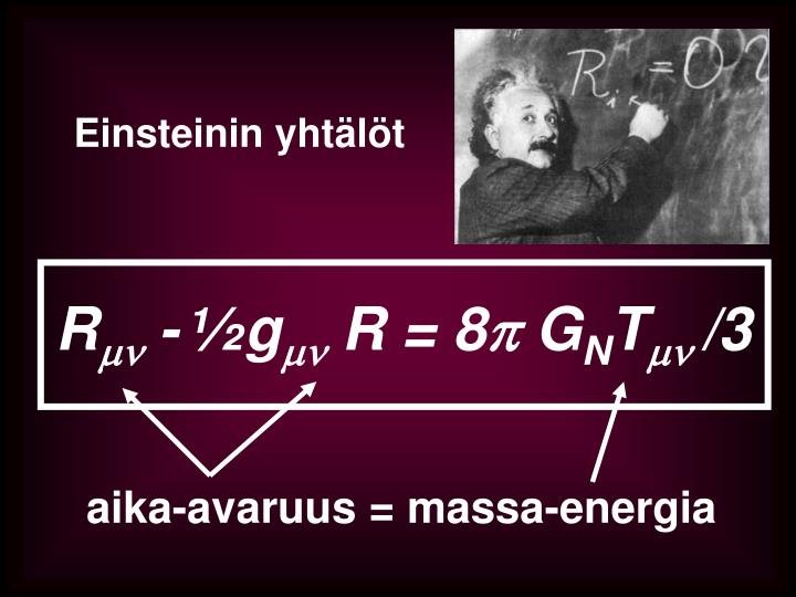 Einsteinin yhtälöt