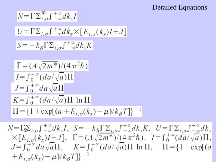 Detailed Equations