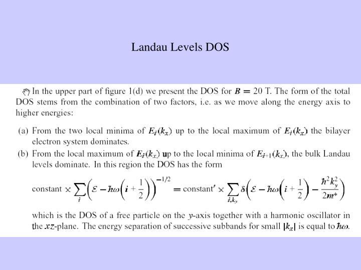 Landau Levels DOS
